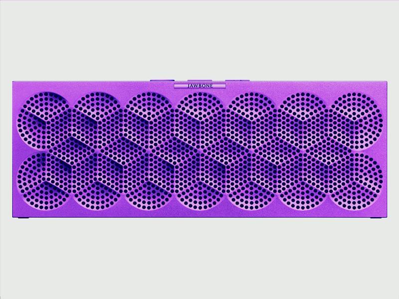 MINI JAMBOX Purple Snowflake front