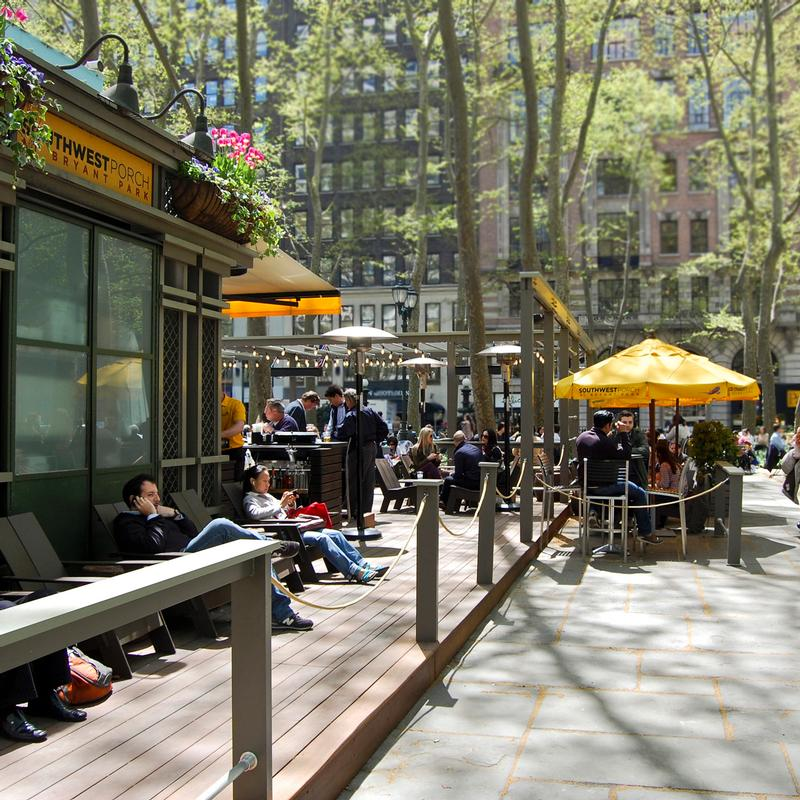 Southwest Porch at Bryant Park