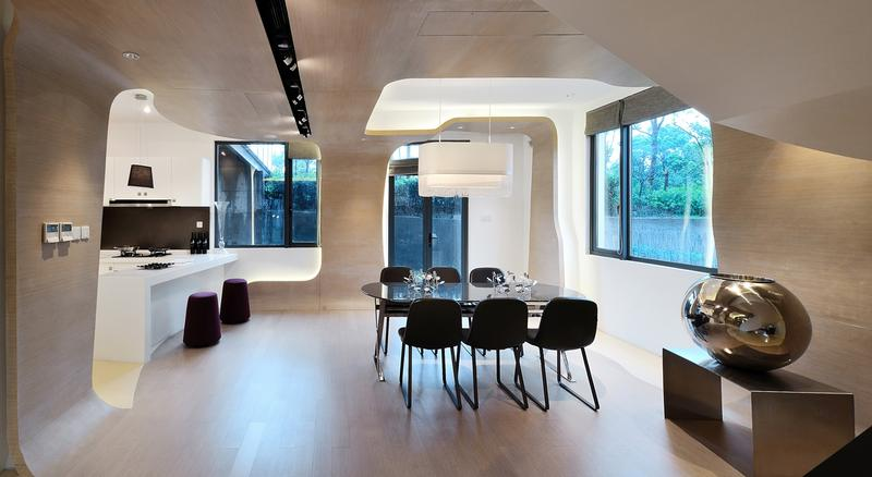The curves angles of the work of kris lin interior for Estate agency interior design