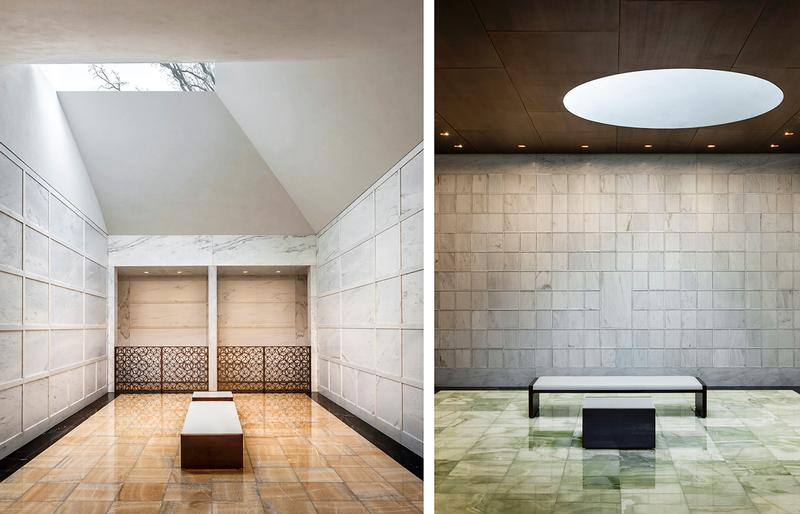 North Crypt Room (L); North Columbarium Room (R)/ Paul Crosby Photography