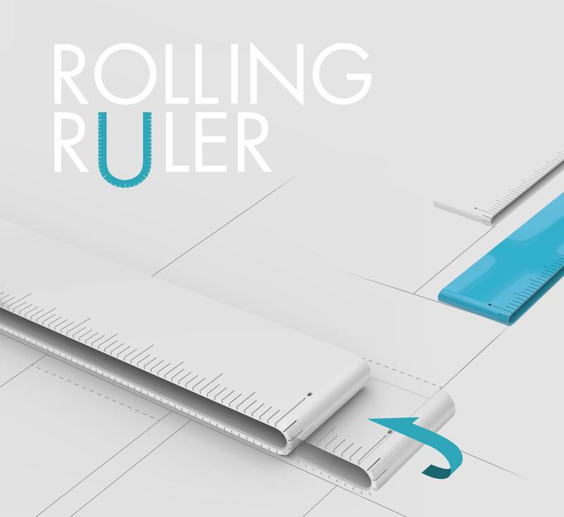 Rolling ruler beauty cut