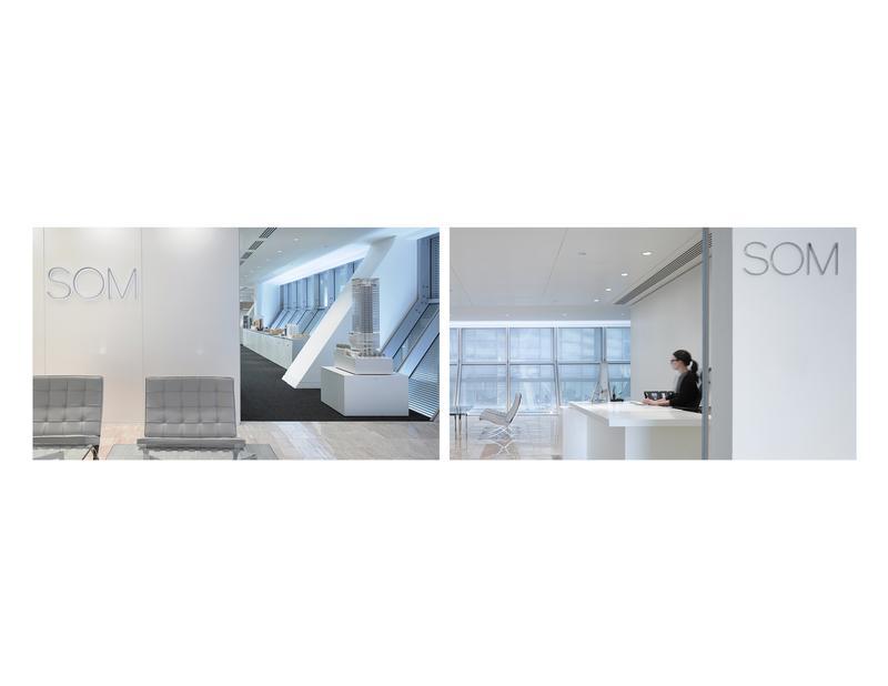 SOM signage at London office / ©SOM