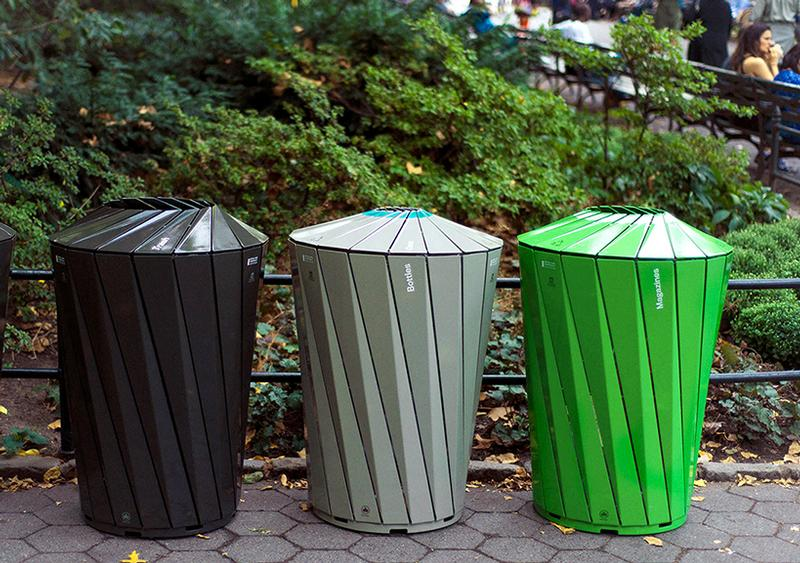 Central Park Conservancy Receptacles