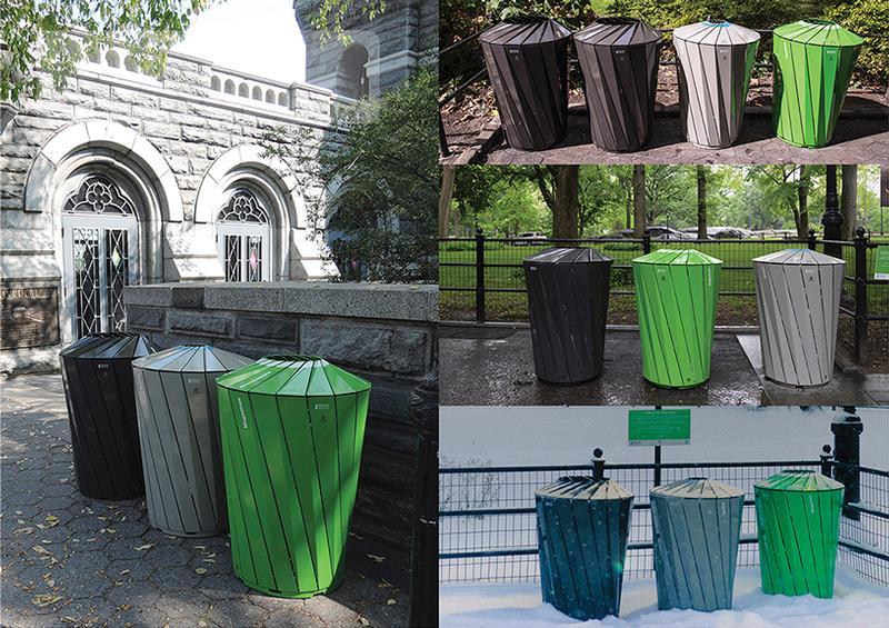 Central Park Conservancy Receptacles in the Park, credit: Landor Associates