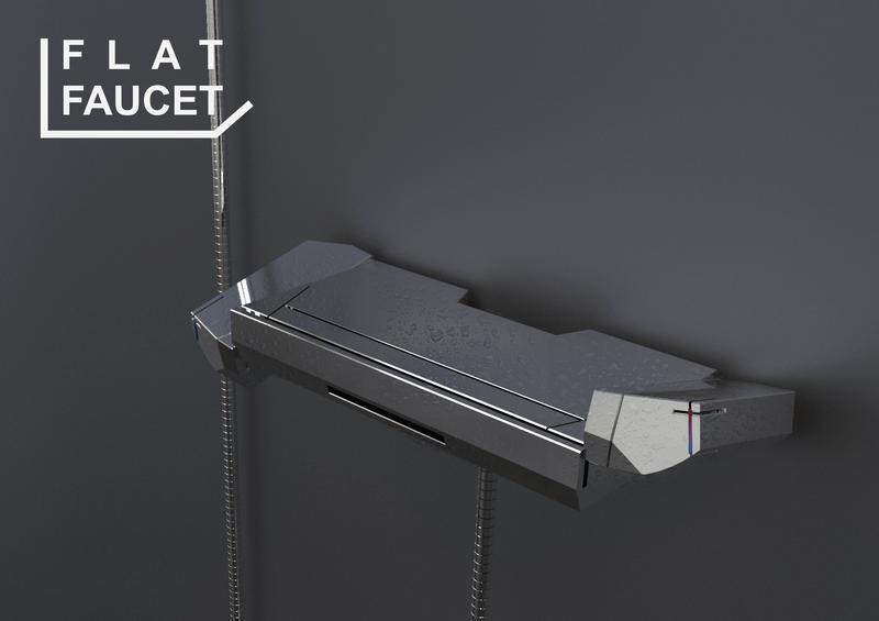 Shower Faucet of a Shelf Form