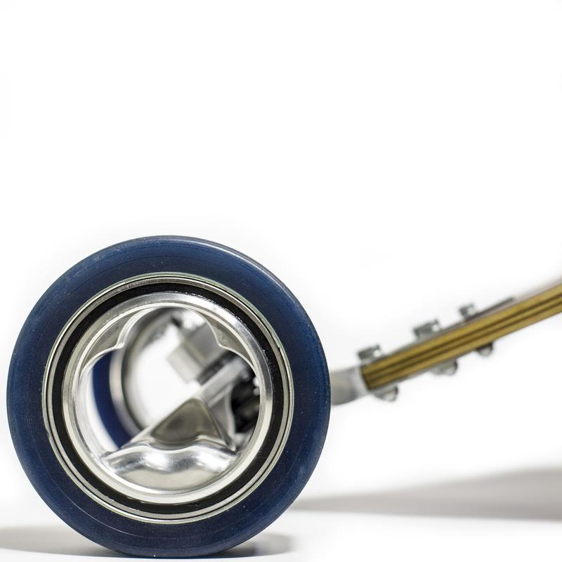 Closeup of the centreless wheels | Nicholas Perillo