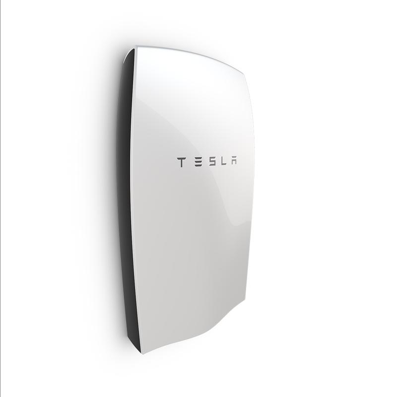 Side View Tesla Powerwall, Tesla Motors