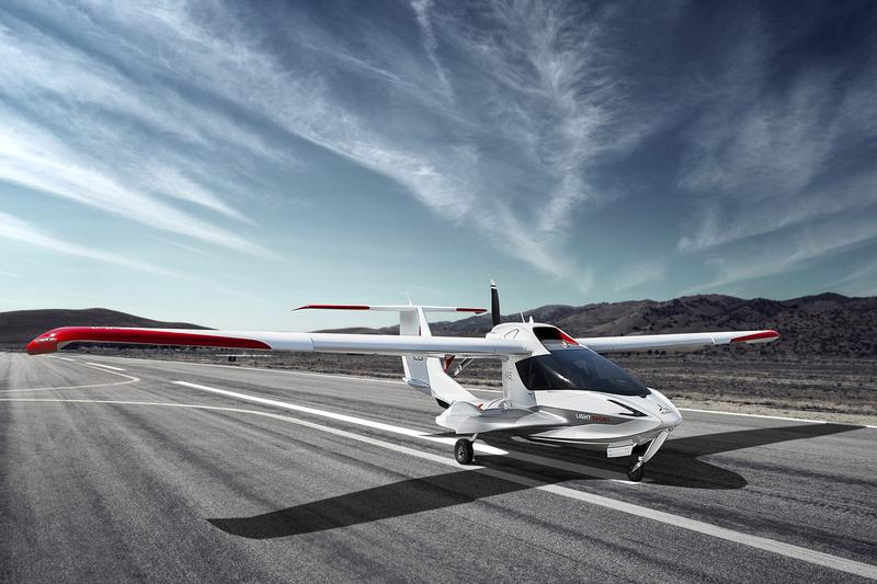 Retractable landing gear allow the plane operate from airports
