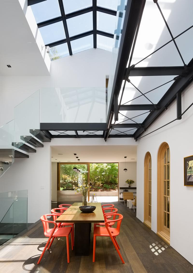 Central atrium with skylight and bridge.  Photo credit: Joe Fletcher